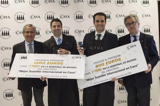Ganadores Semifinal Euskadi 'Mejor Sumiller Internacional en Cava'