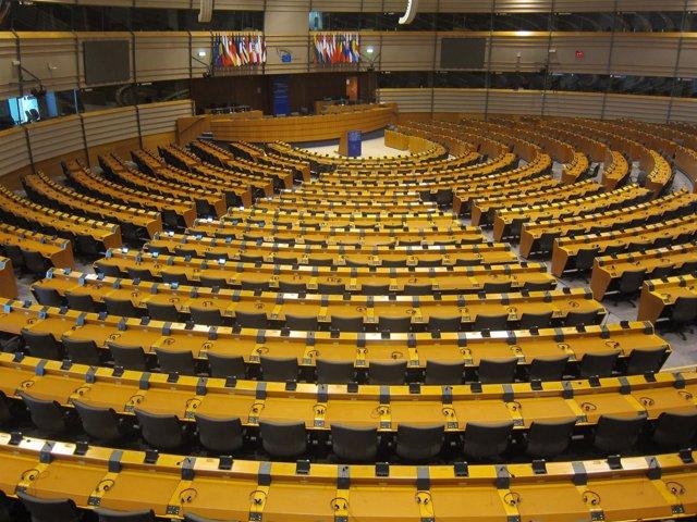 El pleno del Parlamento Europeo en Bruselas.