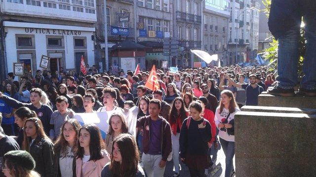 Manifestación de estudiantes en Santiago