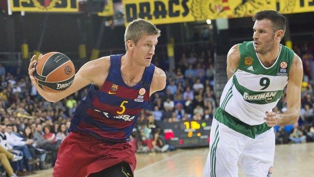 El jugador del FC Barcelona Lassa Justin Doellman
