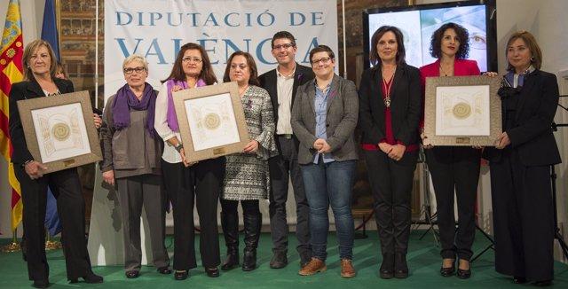 La Diputación de Valencia entrega los primeros Premios Celia Amorós