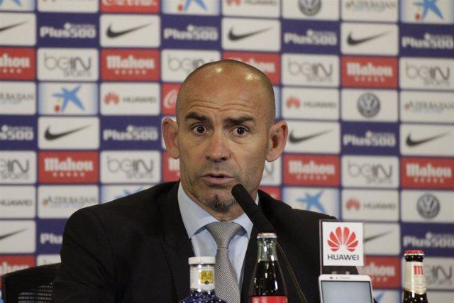 Paco Jémez en rueda de prensa del partido Atlético de Madrid Rayo Vallecano