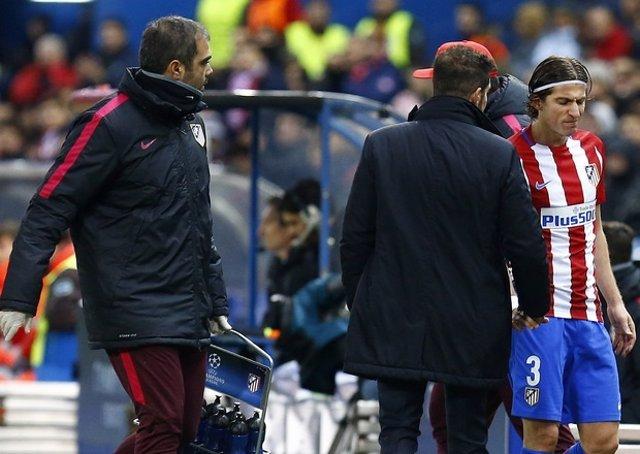 El lateral izquierdo del Atlético de Madrid Filipe