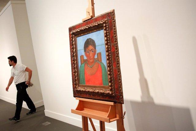 Obra de Frida Kahlo, Niña con Collar, a subasta en Sotheby's