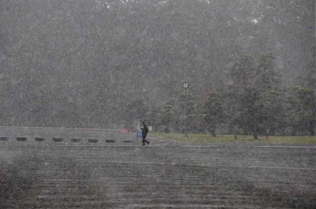 Primera nevada en noviembre en Tokio desde hace 54 años
