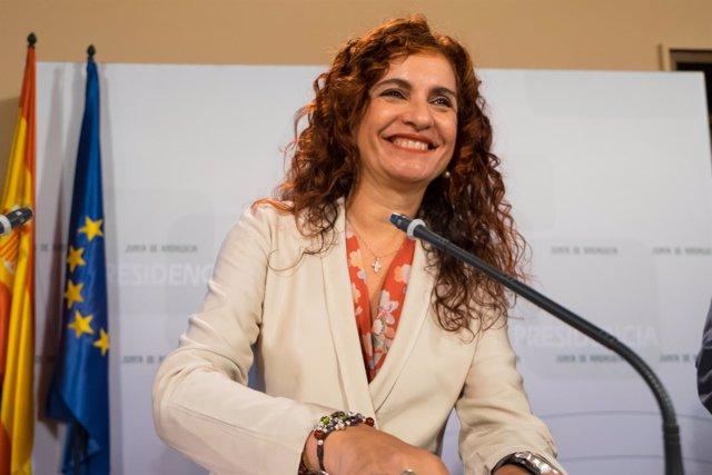 Consejera de Hacienda y Administración Pública, María Jesús Montero.