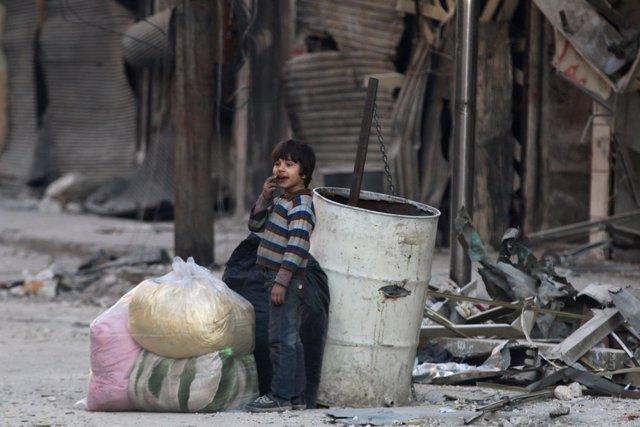 Un niño en Alepo