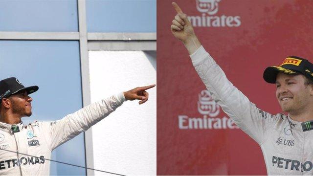Collage Hamilton y Rosberg