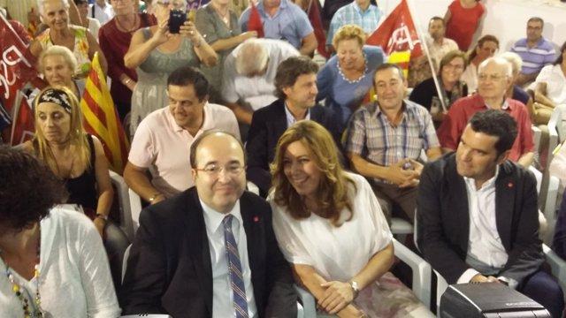 Mikel Iceta y Susana Díez