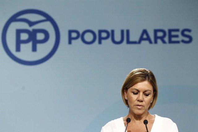 Cospedal valora los resultados de las elecciones vascas y gallegas