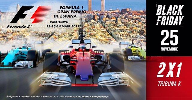 Cartel de promoción por el Black Friday para el GP de España de F-1