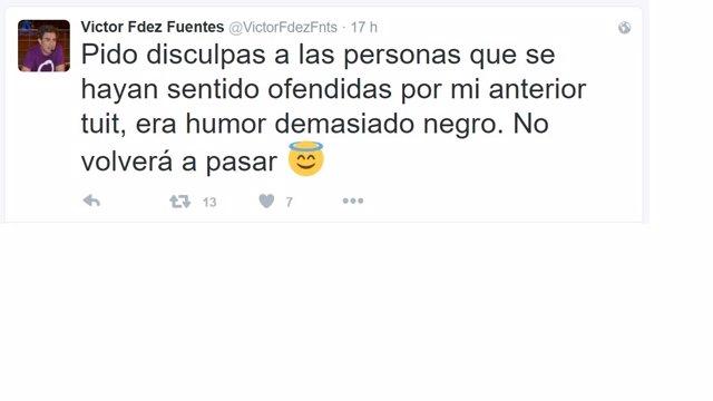 Mensaje de disculpa de Victor Fernández