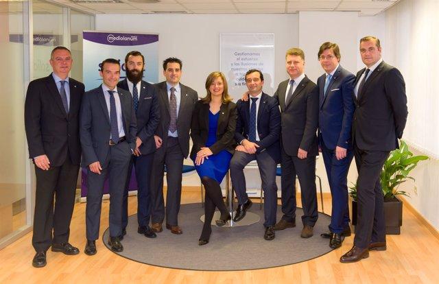 Equipo de asesores de Banco Mediolanum en A Coruña
