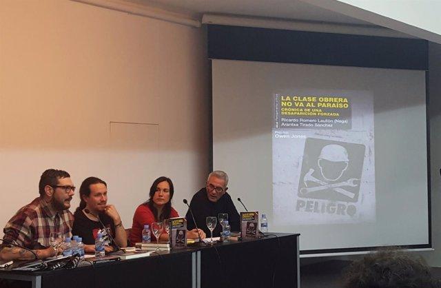 Pablo Iglesias en la presentación de un libro sobre la clase obrera