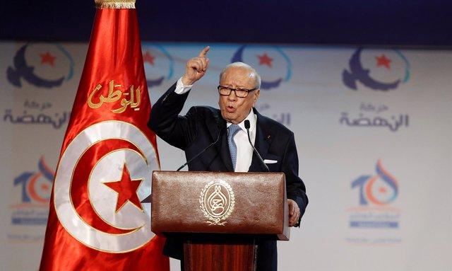 El presidente de Túnez, Beji Caid Essebsi