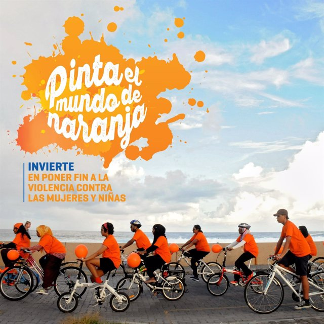 Campaña 'Pinta el mundo de naranja', de ONU Mujeres