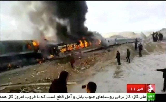 Accidente de tren en Irán