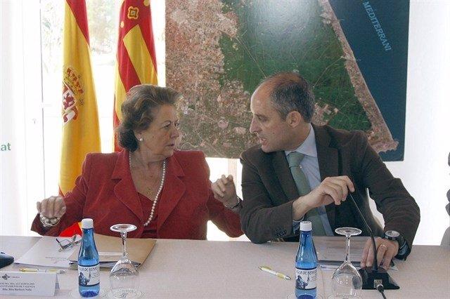 Rita  Barberá y francisco Camps en una imagen de archivo