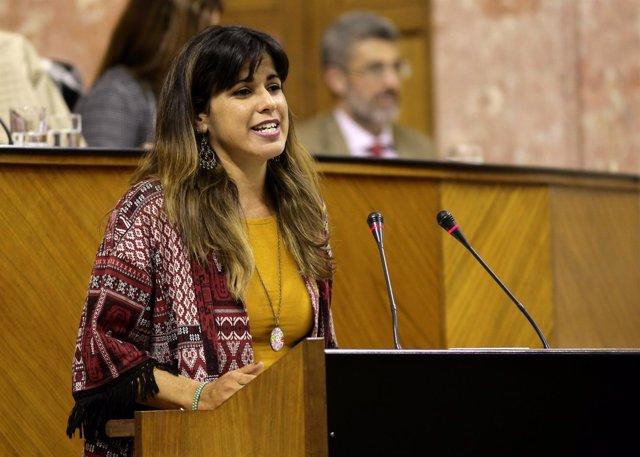 La portavoz parlamentaria de Podemos Andalucía, Teresa Rodríguez