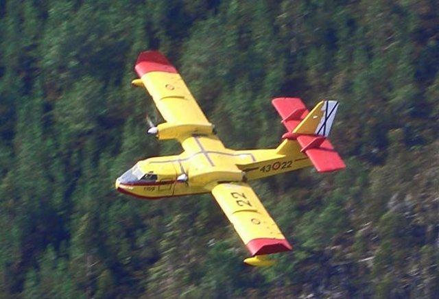 Un avión de Canadair para extinción de incendios forestales
