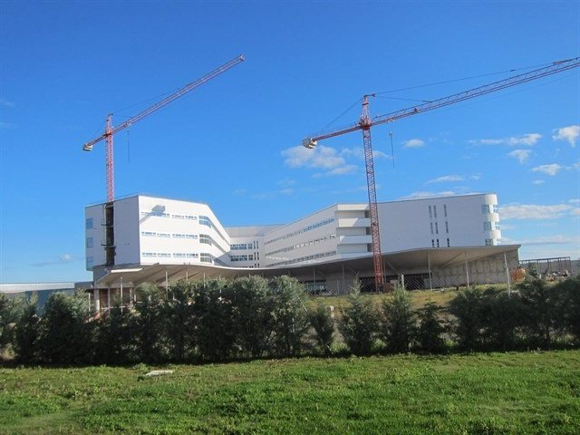 Obras del nuevo hospital de Cáceres