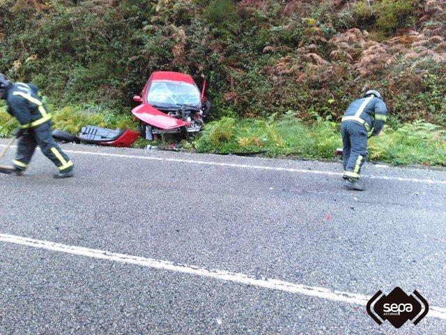 Accidente mortal en Salas
