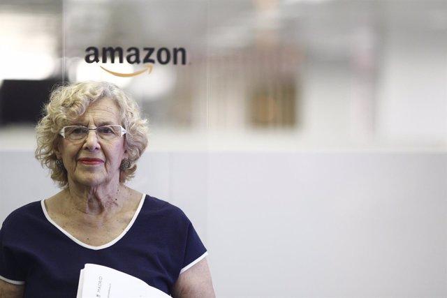 Carmena inauguran el centro de desarrollo de software de Amazon en Madrid