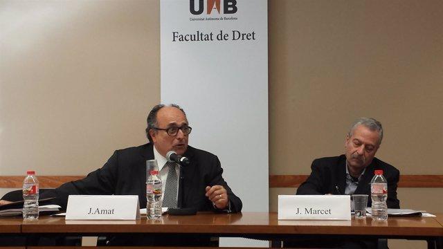 Jaume Amat (Sindicatura de Comptes) Joan Marcet (constitucionalista)