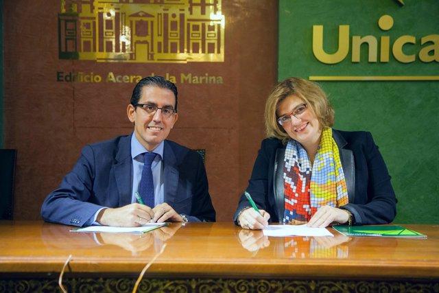 Sergio corral fundación unicaja y itziar ochotorena fimabis málaga