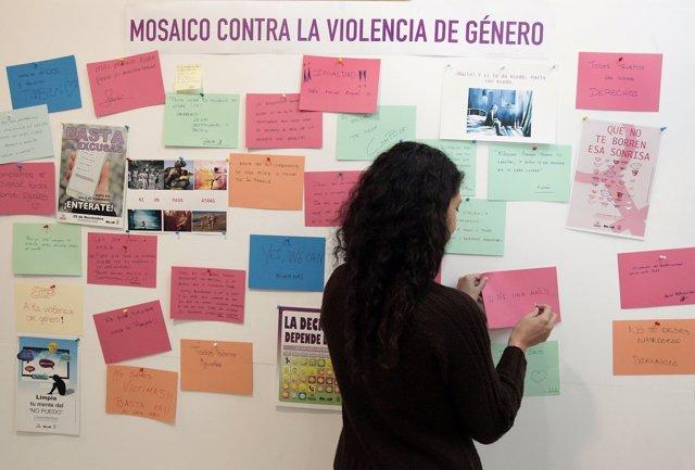 Muro contra la violencia de género