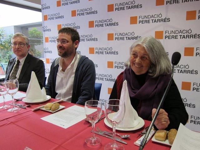J.O.Pujol (Pere Tarrés) y los diputados A.D.Fachin y A.Martínez (Podem).