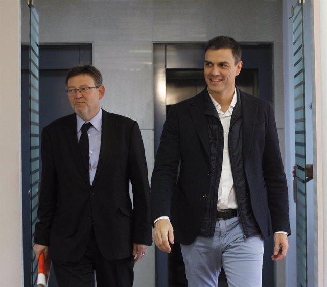 Pedro Sánchez Y Ximo Puig En  Valencia, en una imagen de archivo