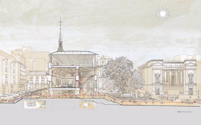 Imagen del proyecto de rehabilitación del salón de armas del Museo del Prado