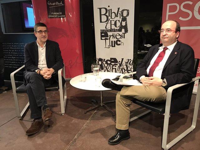 Patxi López y Miquel Iceta