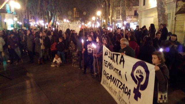 Manifestación en Palma contra la violencia machista