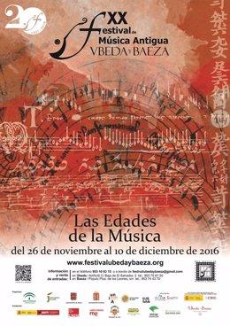 Cartel del Festival de Música Antigua de Úbeda y Baeza