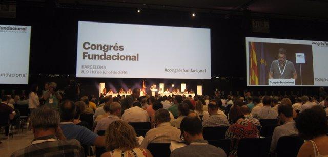 Congreso fundacional de la nueva CDC en Barcelona