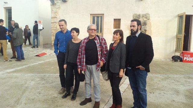 Ramón Cotarelo y Pere Joan Pons en la Escola de Tardor en Palma
