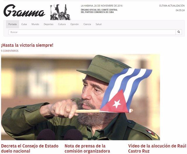 Portadas de los medios internacionales sobre Castro.
