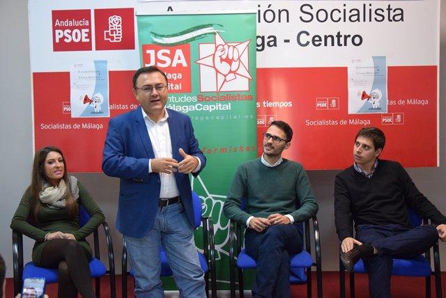 Miguel Ángel Heredia en rueda de prensa en Málaga
