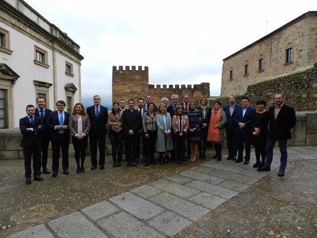 Alcaldes de las ciudades Patrimonio de la Humanidad reunidos en Cáceres