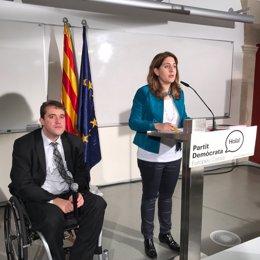 La coordinadora general del PDECAT, Marta Pascal, y D.Bonvehí,