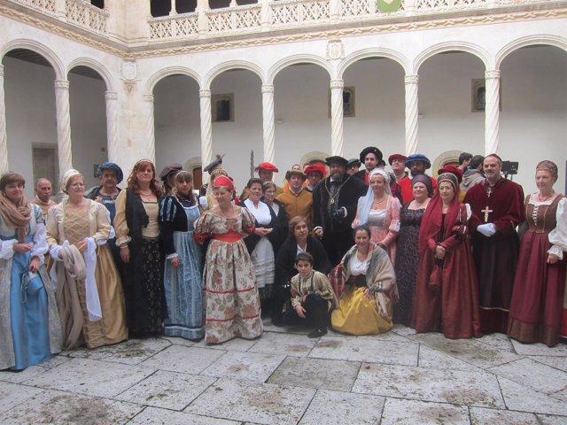 El equipo de rodaje de la serie 'Carlos V: Los viajes del Emperador'
