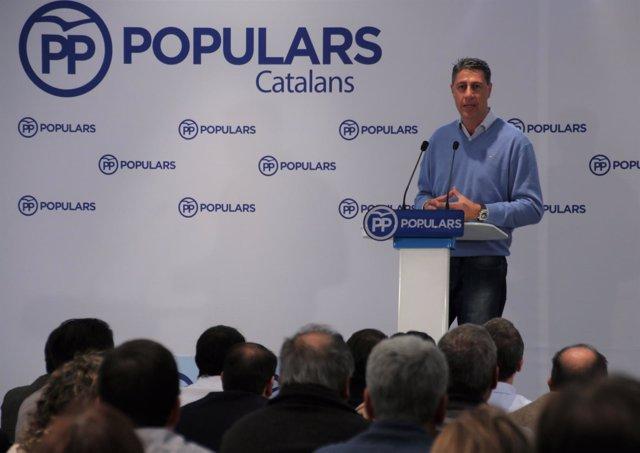 Albiol (PP) en el cierre de la Intermunicipal del PP en Mataró