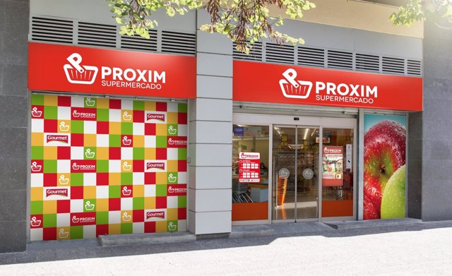 Imagen corporativa de los supermercados Proxim de Grupo Miquel