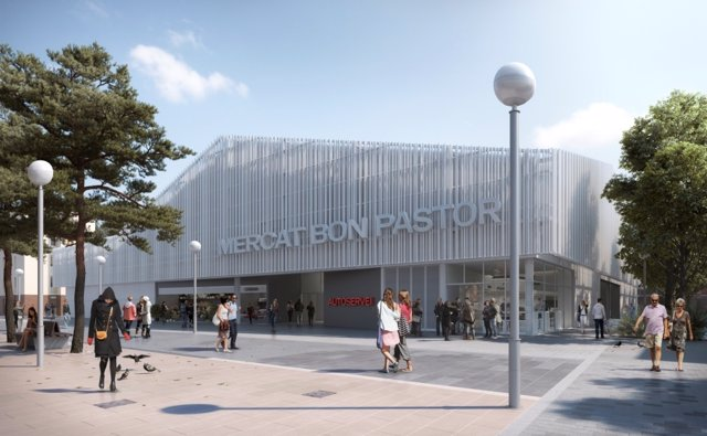 Proyecto mercado de Bon Pastor en Barcelona