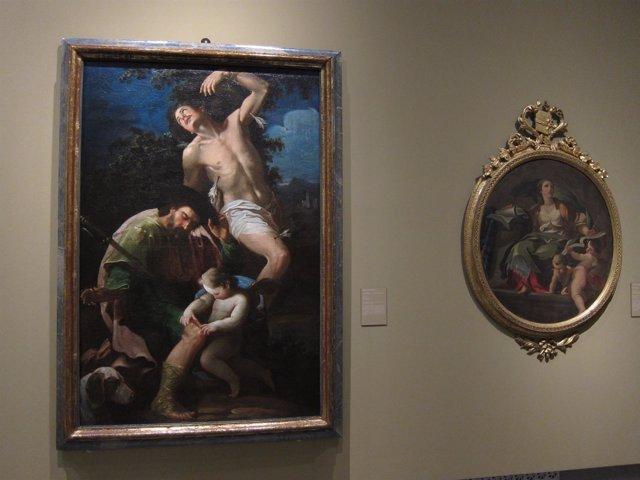 Dos de las obras de la exposición 'Pasión por el arte' de Ibercaja