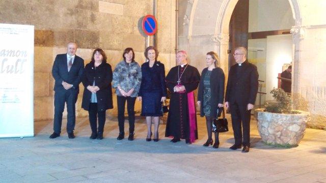 La Reina Sofía visita la exposición de Ramón Llull en Palma