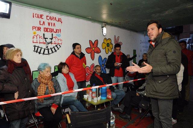 Visita de Puente al túnel peatonal de la Pilarica