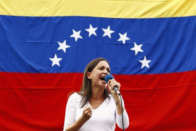 La senadora opositora de Vente Venezuela María Corina Machado.